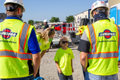 BUILD OUT EXCLUSIVE: Miron Construction Helps Make 5-Year Old Boy's Dream Come True, Works Construction for the Day