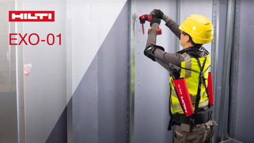 Move Over Iron Man, Hilti Introduces the EXO-01 Wearable Exoskeleton