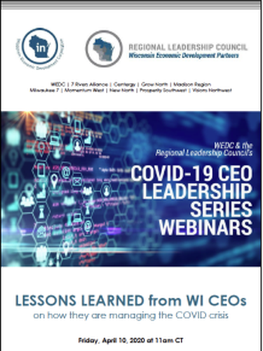Wisconsin Economic Development Corporation (WEDC) and Regional Leadership Council's Offer CEO Leadership Series to Help Navigate COVID-19